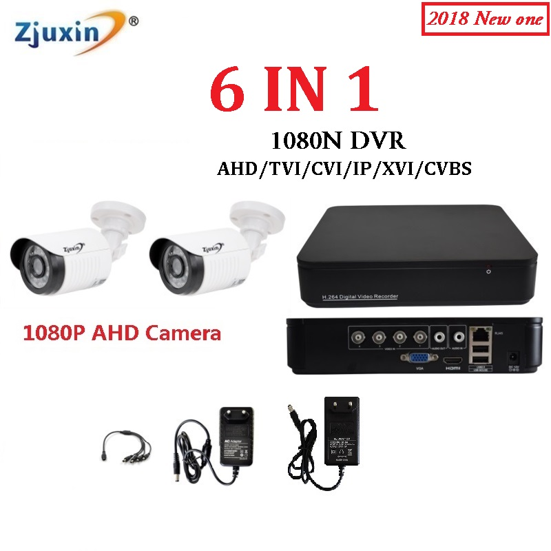 1PC 6IN1 4CH 1080N AHD DVR KIT 1080P HD Indoor and outdoor Security Camera USE 1080P 3.6MM Len AHD Cam Set