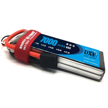 DXF Lipo Battery 2S 7.4V 7000mAh 60C 120C XT60 T Deans TRX EC5 RC Parts For  Drone Airplanes Cars Boat 4x4 1/8 1/10 1