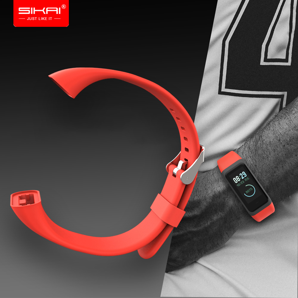 SIKAI Sillicone Watch Strap for <font><b>Huami</b></font> <font><b>Amazfit</b></font> <font><b>Cor</b></font> <font><b>2</b></font> Replacement Comfy Colorful Bracelet Watch Bands for <font><b>Huami</b></font> midong <font><b>Cor</b></font> 1 band image