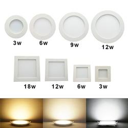 Downlight LED Round Square panel 3W 6W 9W 12W 15W 18W 24W Spotlight Ultra thin Design 230V LED Panel light indoor lighting
