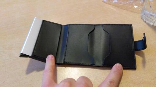 Automatische Creditcardhouder Reizen Aluminium Mannen RFID Portemonnee Pop-up Blokkeren Geld Case Bescherming PU Lederen Kaarthouder photo review