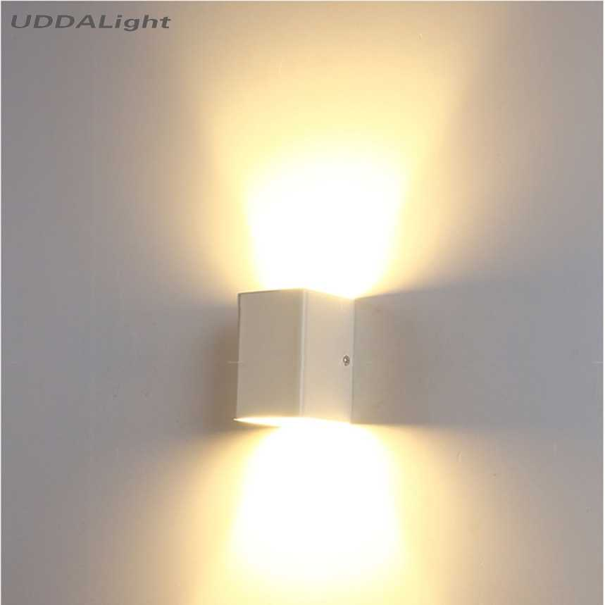 up down light outdoor wall light 5W led light wall Square bedside room bedroom decorative wall light arts