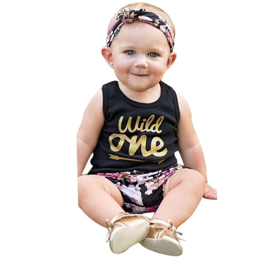Pasgeboren zomer katoenen pakken Baby meisjes kleding Set Wild een - Babykleding - Foto 2