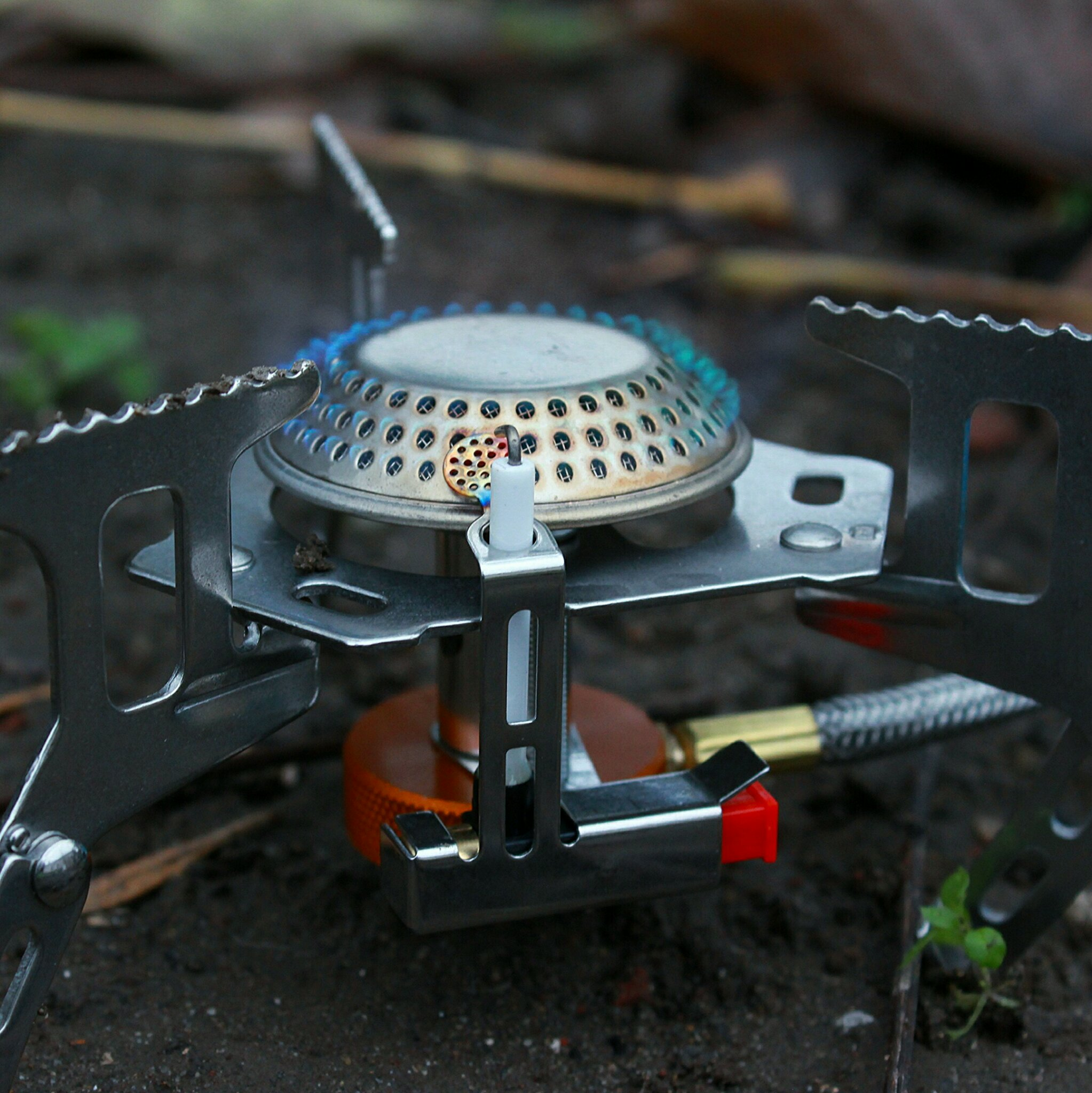 Details about  /3500W Camping Hiking Gas Stove Outdoor Foldable Cooking Gas Split Burner