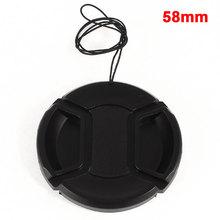 UXCELL Plastic 58Mm Heart Pinch Lens Cap Cowl W Strap Leash For Dlsr Digital Digital camera