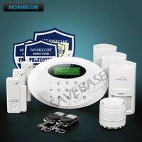 HOMSECUR Wireless GSM SMS Autodial Home Security Alarm System With SOS Intercom M3GB