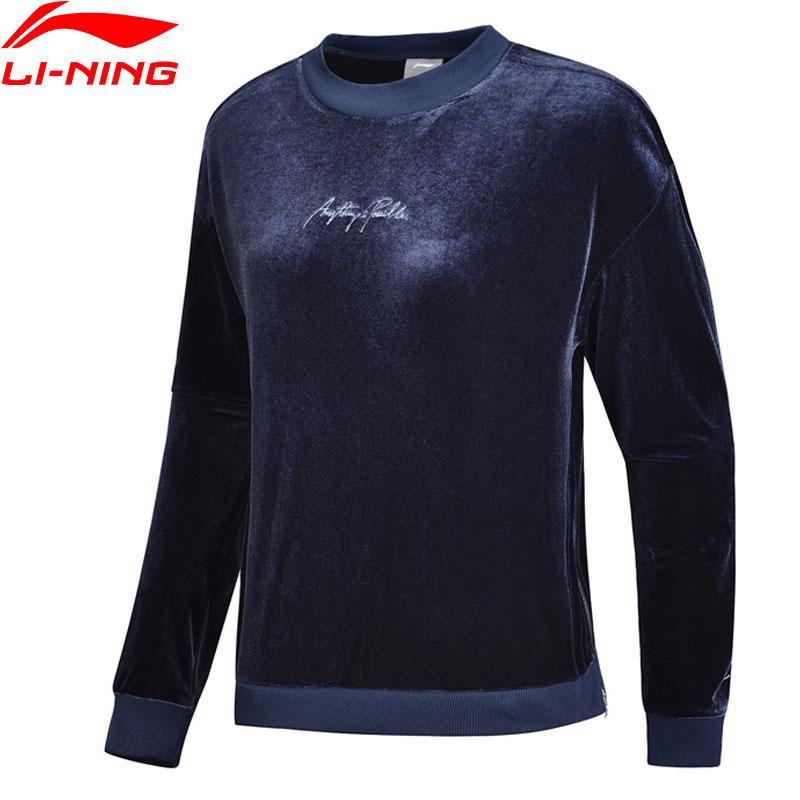 Hemden Trainings- & Übungs-sweater Li-ning Frauen Die Trend Pullover Lose Fit Samt 92% Polyester 8% Spandex Futter Komfort Sport Tops Sweatshirts Awdn846 Www990 Tropf-Trocken