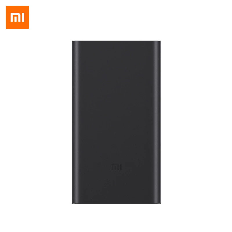 Xiaomi Mi Power Bank 2S 10000 mAh Black and Silver Color Portable Charger Dual USB Mi External Battery Bank for Mobile Phones portable 5600mah power source bank w 1 led flashlight for iphone htc samsung more black