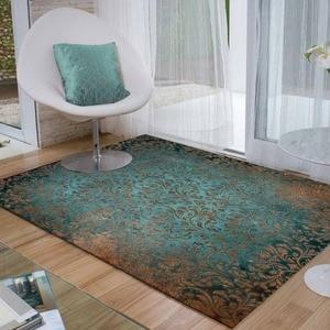 Más Verde marrón turco vintage floral flores 3d imprimir antideslizante de microfibra habitación moderna decorativa alfombra lavable de área Mat