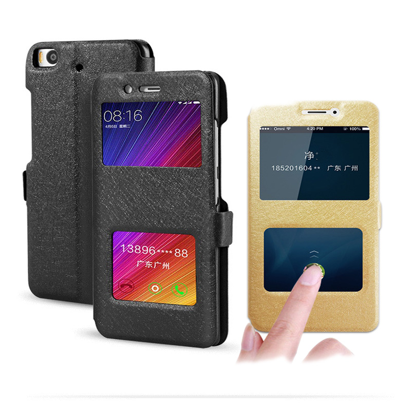 Luxury Smart Window View Flip Leather Phone Cases For Xiaomi Redmi 5 Plus 4X 4A 5A Redmi Note 4X/4 Note 5A Case Stand Back Cover