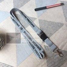 200 pz/lotto custom cordini di design su misura tracolla in poliestere cordino con il proprio logo stampato da FEDEX espresso