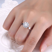 925 Sterling Silver Personality Women Rings Inlaid Zircon Jewelry Can Be Rotated Office Play Lovers Ring for Women Jewelry