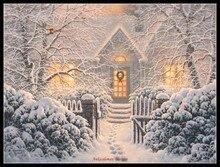 Counted zestaw do szycia robótki haft rzemiosło 14 ct Aida DMC kolor DIY sztuki Handmade Home Decor Winter Wonderland