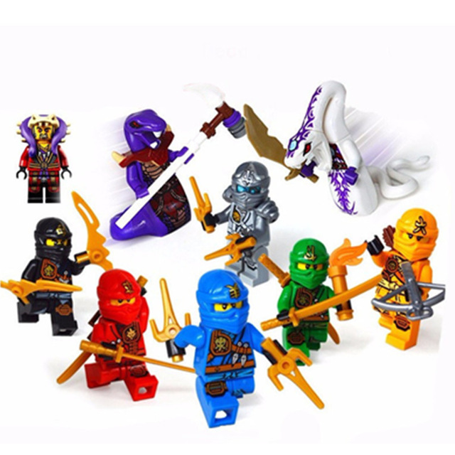 1ps Ninja Heroes Kai Jay Cole Zane Nya Lloyd Motorcycle With Weapons Building Blocks Figure Compatible Legoinglys Ninjagoinglys #2