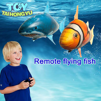 TAIHONGYU Remote Control RC Air Fly Fish Shark Toys Fish Balloons Nemo Inflatable with Helium Plane Toy Party For Kids Christmas