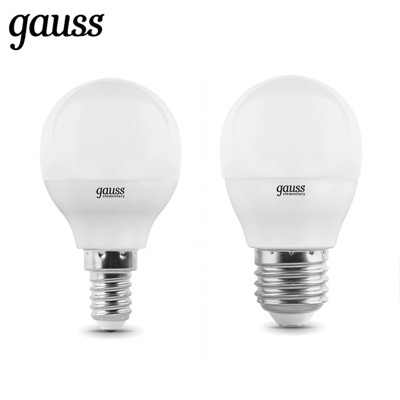 LED lamp bulb ball diode E14 E27 G45 6W 8W 10W 2700K 4000K cold neutral warm light Gauss Lampada lamp light bulb globe lexing lx 035 e14 4w 300lm 3500k 80 smd 3528 led warm white spotlight bulb 220 240v
