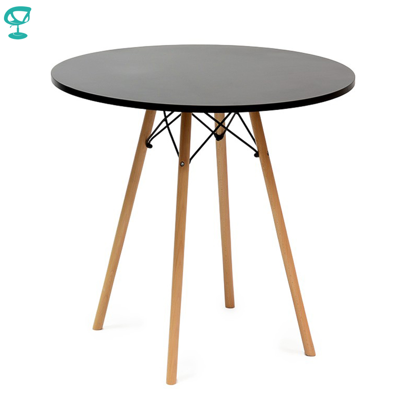 94922 Barneo T-8 MDF Interior Dinner Table Bar Table Kitchen Furniture Dining Table Black Free Shipping In Russia