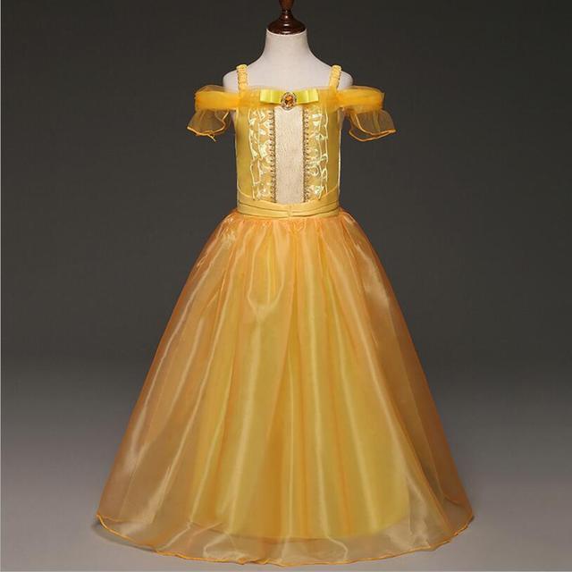 Cosplay Girl Cartoon Princess Dresses Birthday Gift For Girl Dress