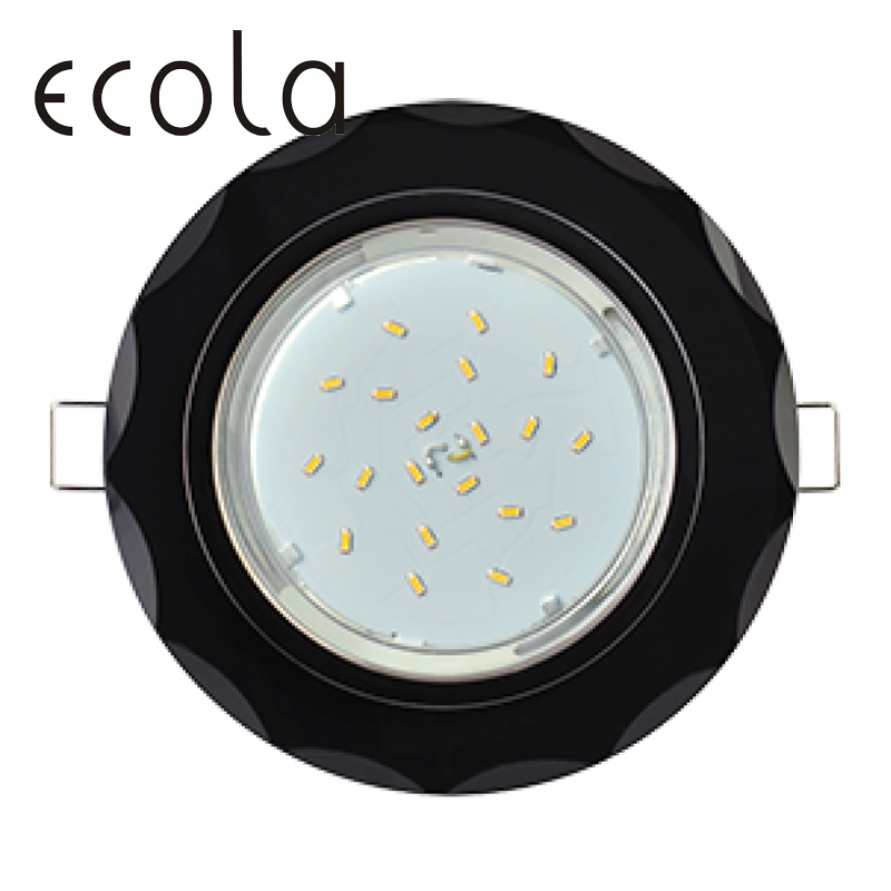 Ecola GX53 H4 5313 Glass Downlight Spotlight Cut Hole Spot Lamp Fitting Frame Bulb gx53 Sockets Circle concave facets 38x133 12000k car h4 3 35w hid xenon headlight light lamp bulb replacement black white one pair