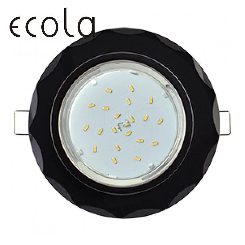 Ecola GX53 H4 5313 di Vetro da incasso lampada da incasso GX53 Cerchio con concavo sfaccettature 38x133