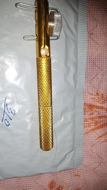 Aluminum Alloy Fishing Hook Tier Double-Headed Needle Knots Tie Gold Fishing Line Knotter Fishhook Tie Device Useful Accessories
