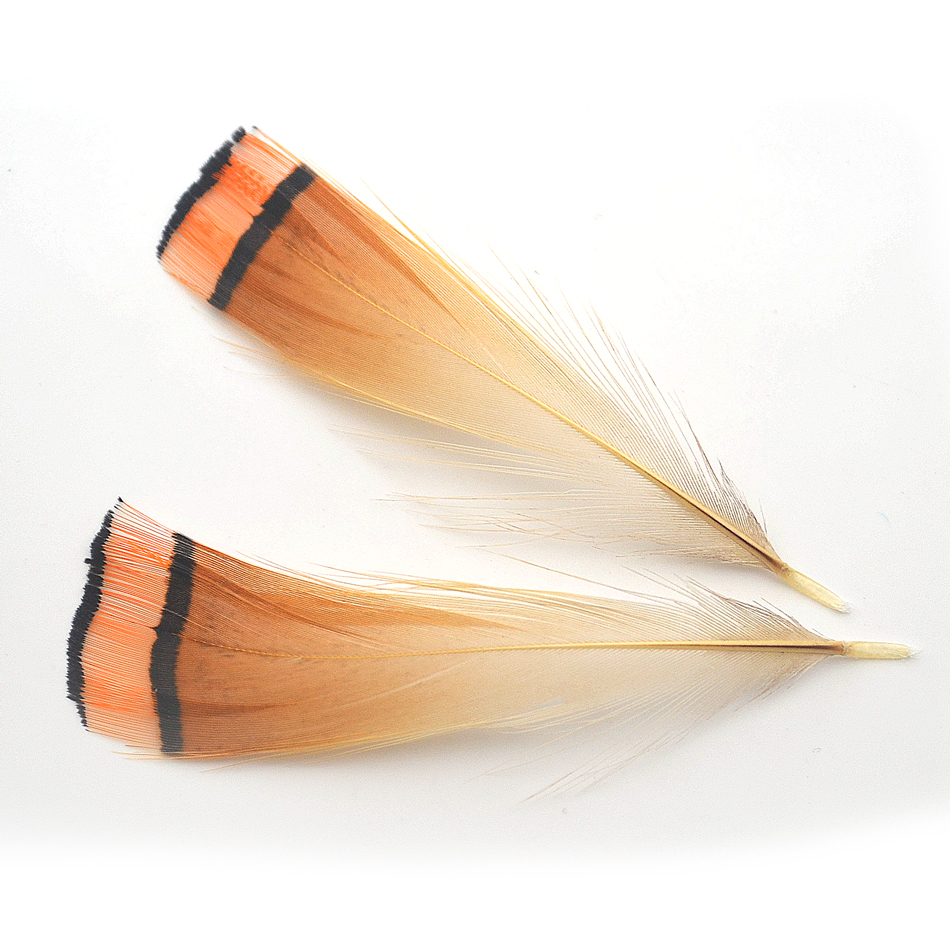 Orange Red Purple Golden Pheasant fly Tying Feathers Tippet feathers Natural