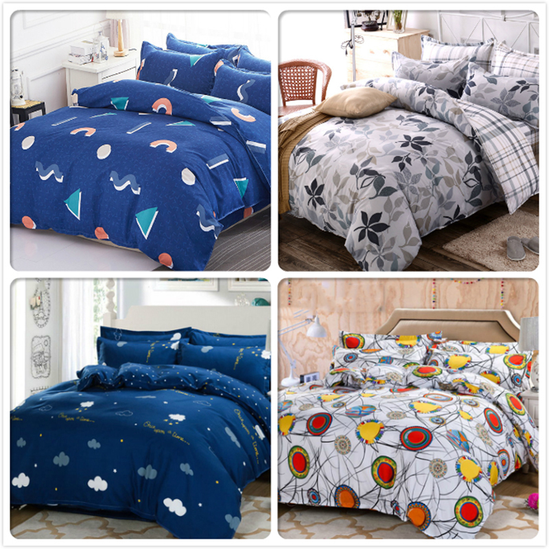 Soft Cotton Duvet Cover Sheet Pillowcase 3/4 pcs Bedding Set Adult Kids Student Bed Linen Single Twin Queen King Size Quilt CaseSoft Cotton Duvet Cover Sheet Pillowcase 3/4 pcs Bedding Set Adult Kids Student Bed Linen Single Twin Queen King Size Quilt Case