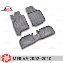 Коврики для Opel Meriva 2002 ~ 2010 ковры Нескользящие полиуретановые грязи защиты подкладке автомобиля средства укладки волос