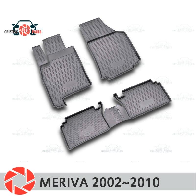 Tappetini per Opel Meriva 2002 ~ 2010 tappeti antiscivolo poliuretano sporco di protezione interni car styling accessori