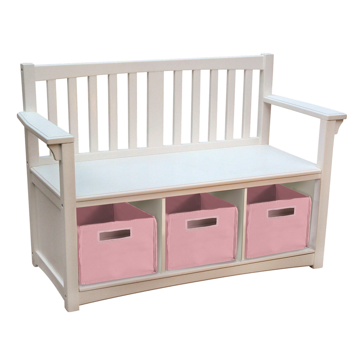 GuideCraft Classic White Storage Bench guidecraft dress up cubby center white