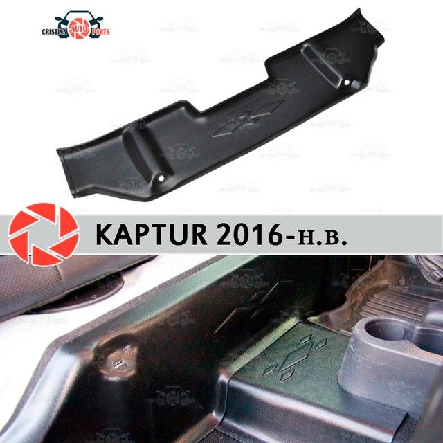 Накладки под задние сиденья чехлы для Renault Captur 2016-на ковровое покрытие Накладка на порог аксессуары защита ковра автомобильный Стайлинг