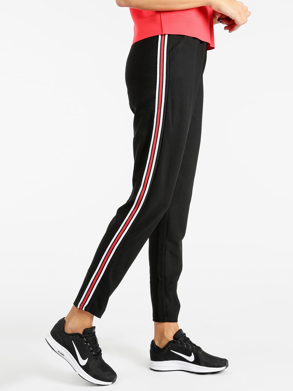 Black Pants With Stripe