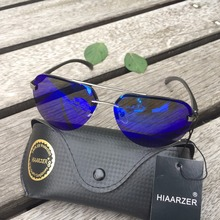 Luxury Aluminum Magnesium Polarized Sunglasses Men Women Driver Mirror HD U400 Sun glasses Male Fishing Female Eyewear With Box