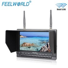 цена на Feelworld FPV733 7 800x480 Resolution FPV Monitor with Dual 5.8G 32CH Diversity Receiver Drone UAV Monitor 1000 Nits Brightness