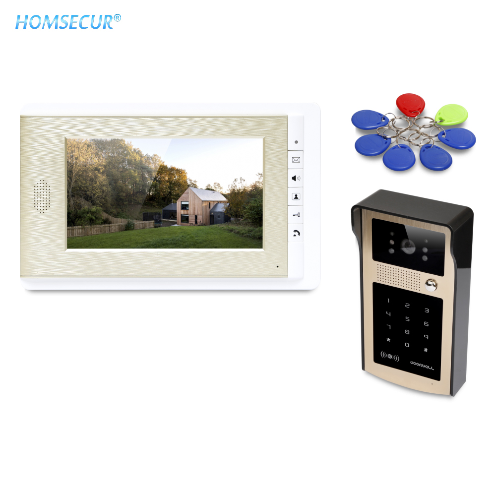 HOMSECUR 7inch Video Door Intercom System with Mute Mode for Home Security for Apartment  XC004-G+XM708-GHOMSECUR 7inch Video Door Intercom System with Mute Mode for Home Security for Apartment  XC004-G+XM708-G