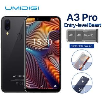 Перейти на Алиэкспресс и купить UMIDIGI A3 Pro смартфон с 5,7-дюймовым дисплеем, четырёхъядерным процессором 19:9, ОЗУ 3 ГБ, ПЗУ 32 ГБ, Android 8,1, 12 МП, 5 Мп