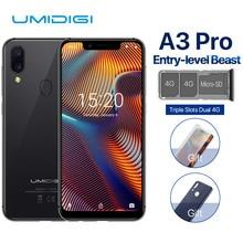 "UMIDIGI A3 Pro Globale Dual 4G Sim Smartphone 5.7 ""19:9 Full Screen Del Telefono Cellulare Android 8.1 3 + 32G Viso ID Impronte Digitali Telefoni Cellulari"
