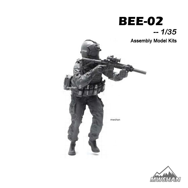 YUFAN 1/35 BEE-02 BEE Series Modern U.S Army Assembly Military Resin Miniatures Model Building Kits