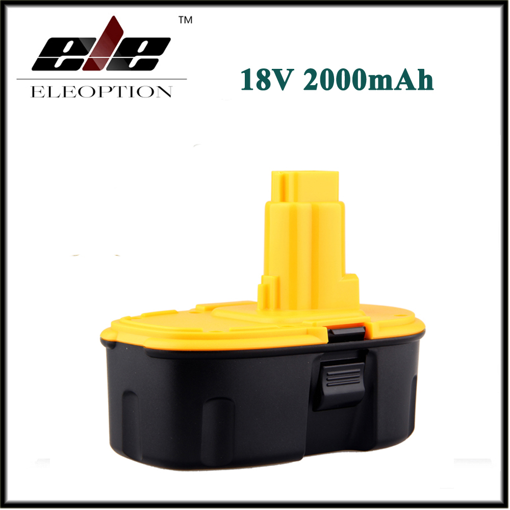 Eleoption For DeWALT DC9096 18V 2000mAh Ni-CD XRP Power Tool Batteries 18 Volt Battery Pack DW9095 FREE SHIPPING