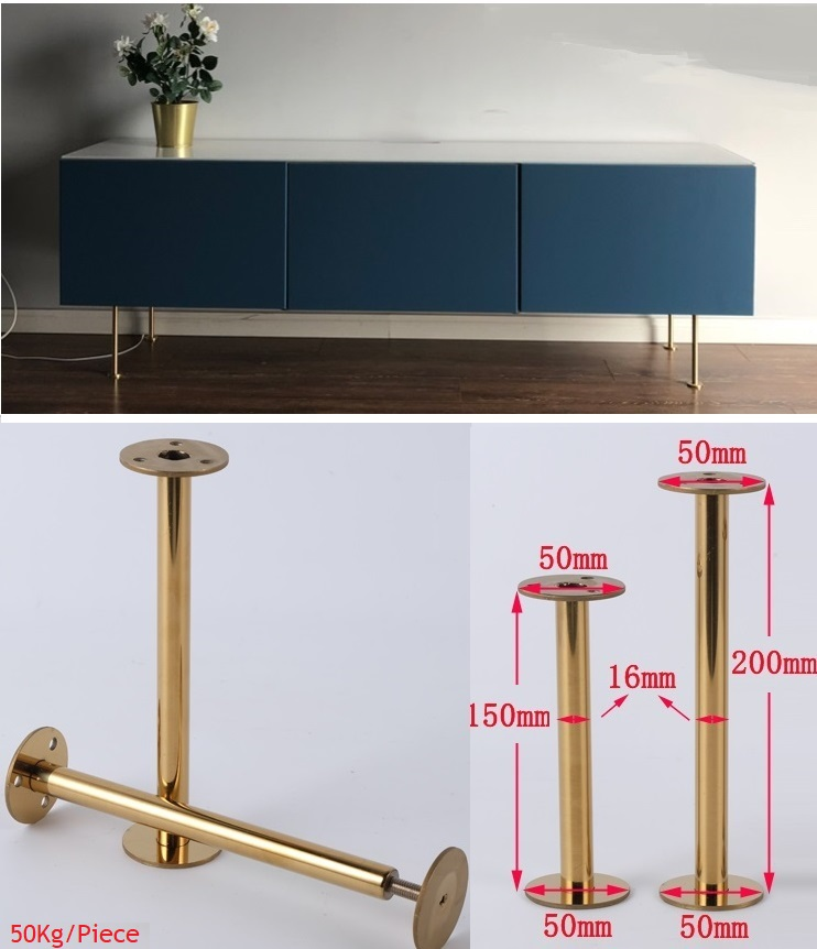 4Pcs/Lot  Slim Stainless Steel Gold European Furniture TV cabinet Coffee Bar Sofa Seat Adjustable Feet Leg 4Pcs/Lot  Slim Stainless Steel Gold European Furniture TV cabinet Coffee Bar Sofa Seat Adjustable Feet Leg