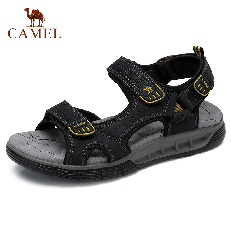 CAMEL Outdoor Travel Men s Sandals Fashion Flexible Genuine Leather Shoes Men Sandal Soft Lightweight Cushioning