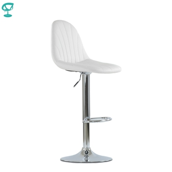 N95CrPuWhite Barneo N-95 PU Leather Kitchen Breakfast Bar Stool Swivel Bar Chair White color free shipping in Russia