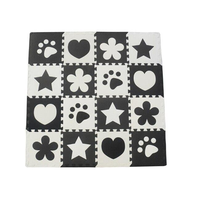 10 Stücke Schwarz Weiß Baby Spielen Matte Eva Schaum Puzzle Matte
