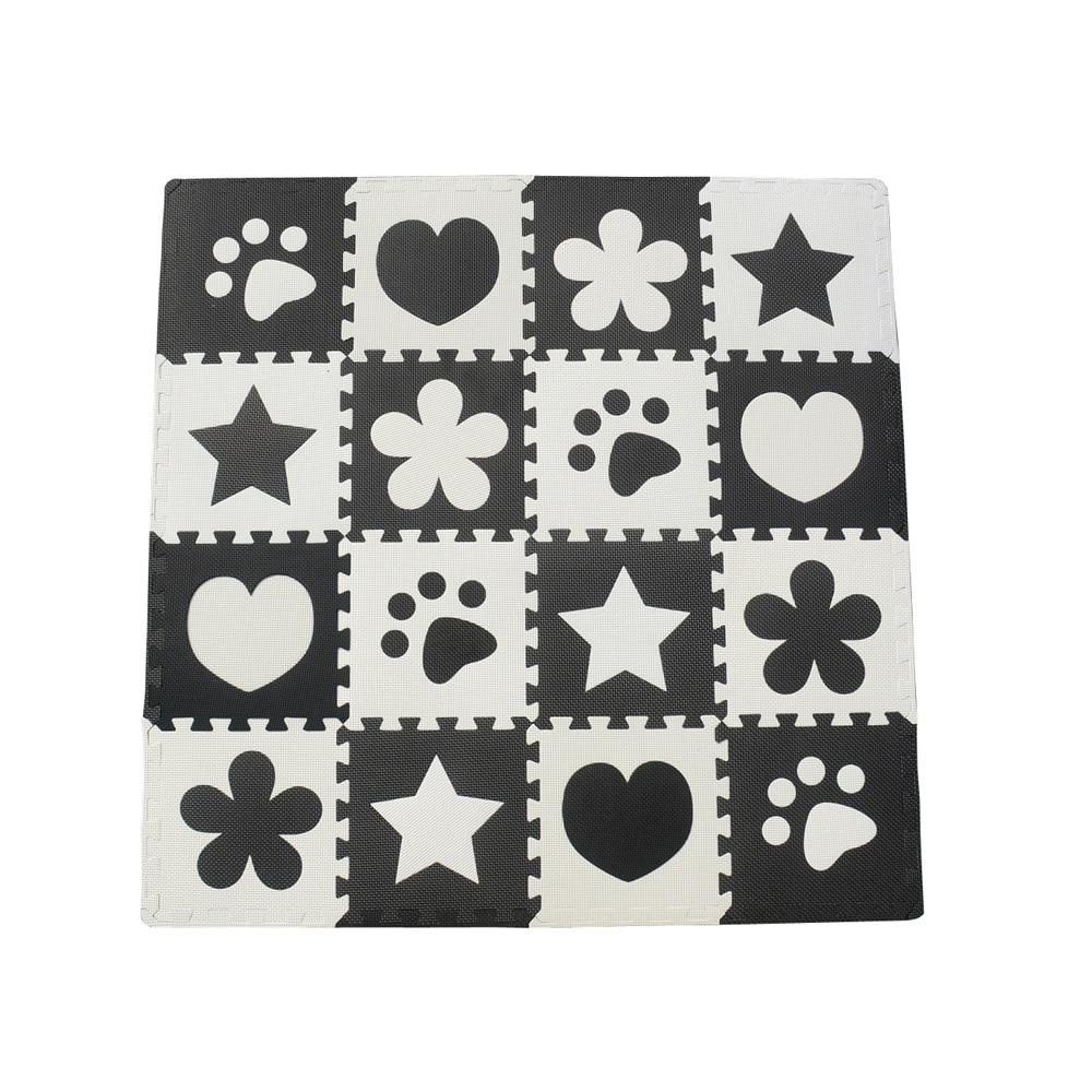 10pcs black white baby play mat eva foam puzzle mat cartoon
