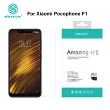ため xiaomi pocophone f1 スクリーンプロテクター 6.18 インチ NILLKIN アメージング H/H + プロ 9H 強化ガラスプロテクター pocophone f1 ため xiaomi