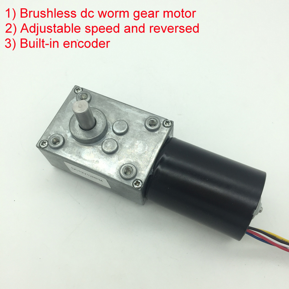 Wholesale 5840-3650 Brushless Dc Motor Worm Gear Motor With 24v Brushless Motor For Reversible 12 Volt Gear Motor wholesale 12 30v 8 1040rpm jgb37 3650 gear motor dc 12v brushless engine d shaft for common use bringsmart