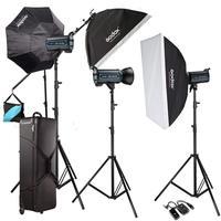 Godox 3X QS 600 Вт Профессиональные студийные вспышки Вспышка Комплект для свадебной моды CD50