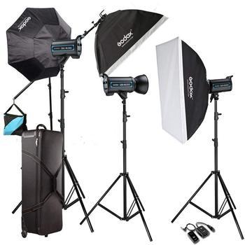 Godox 3X QS 600W Professional Studio Strobe Flash Light Kit For Wedding Fashion CD50