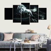 Modern Painting Canvas Wall Art Framework Decorative For Bedroom Living Room Poster 5 Panel Animal Horse