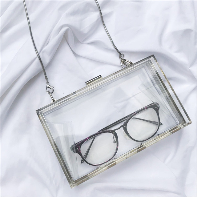 73e2e99f8434a0 Bella Joy Acrylic Transparent Clutch Chain Box Women Shoulder Bags Hard Day  Clutches Bags Wedding Party Evening Purse 5